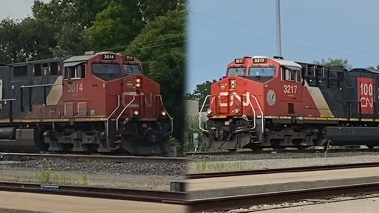 2 Trains at Port Huron, MI 7/22/21