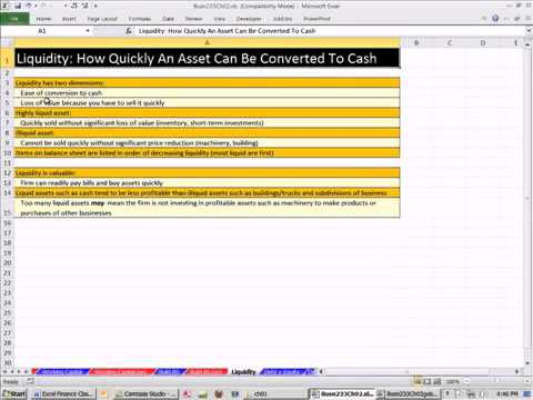 Excel Finance Class 09: Balance Sheet, Working Capital, Liquidity, Debt, Equity, Market Va
