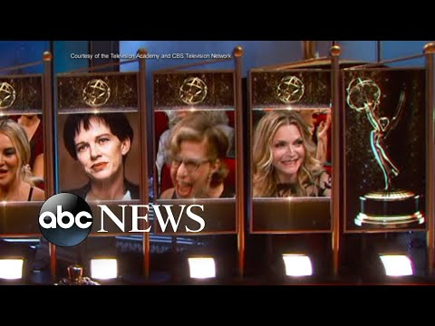 Emmy nominee Jackie Hoffman reacts to losing to Laura Dern