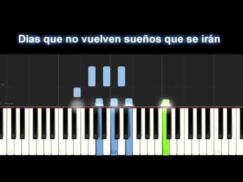 En mi, no en ti piano Karaoke Vazquez Sounds + letra