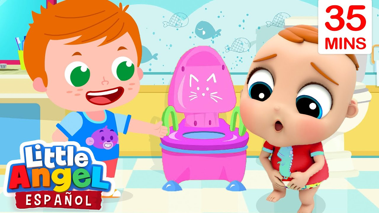 Bebé Juan Aprende a ir al Baño 🚽| Canciones Infantiles | Little Angel Español