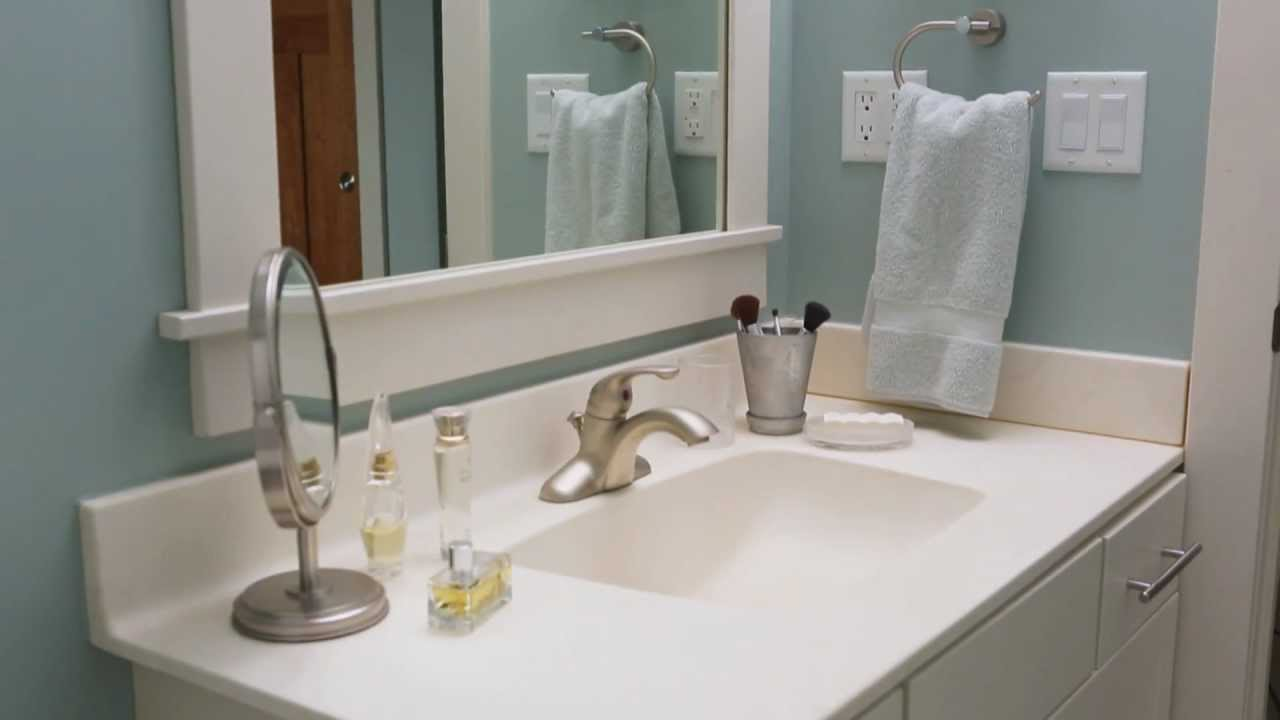 How To Clean A Bathroom Sink And Countertop YouTube - Counter top bathroom sinks