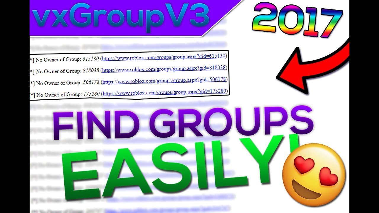Roblox Vxgroupv3 Find Groups Easy Robux 2017 Unpatchable