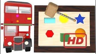 Double Decker London Bus Wooden Hammer Toy  # 338