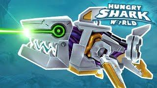 Video Baby Shark Robot! - Hungry Shark World | Ep 67 HD download MP3, 3GP, MP4, WEBM, AVI, FLV Januari 2018