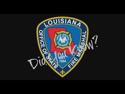 Did You Know? Louisiana Office of State Fire Marshal-Plan Review