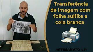 Transferindo foto para madeira de palet com folha sulfite A4