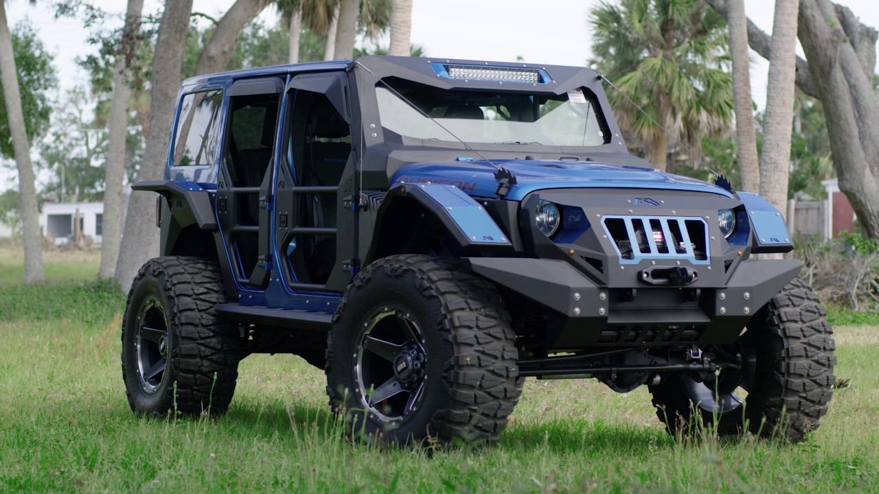Fab Fours Jeep Wrangler | GD4 | GRID Off-Road - YouTube