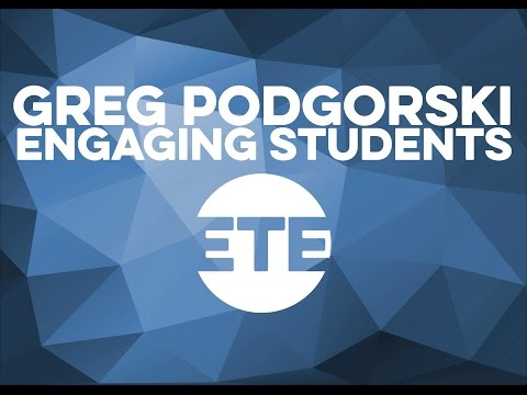 Dr. Greg Podgorski - Engaging Students in Large Classrooms