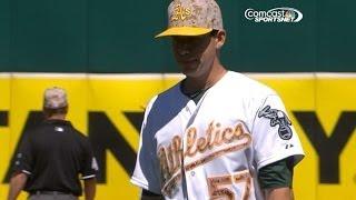 OAK@DET: Milone allows no runs on four hits