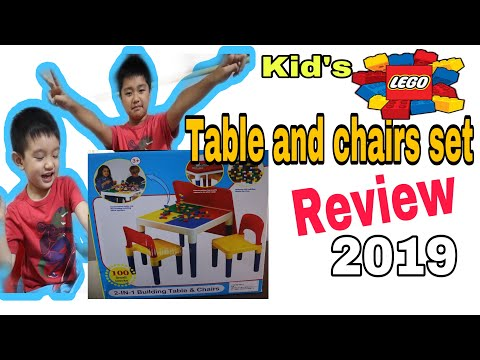 LEGO Table And Chairs Set Review/kid's Activity Table/2in1 Building  Table And Chairs#LEGOTABLE