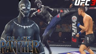 Black Panther In The UFC! Show-off Knockouts! EA Sports UFC 3 Online Gameplay
