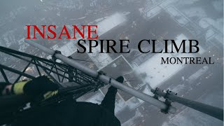 Climbing the TALLEST SPIRE in my city! MC shots