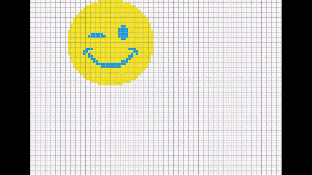 Tricot motif jacquard , point de croix . Smiley - YouTube