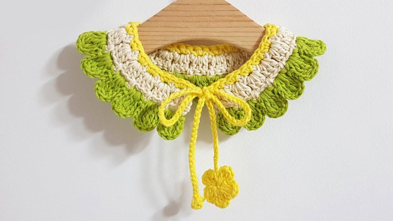 #149 Crochet collar - 아이 케이프[Eng]