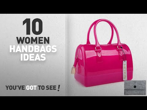 Top 10 Jelly Handbag [ Winter 2018 ]: Hoxis Summer Glamorous Doctors Style Satchel Candy Hand Bag