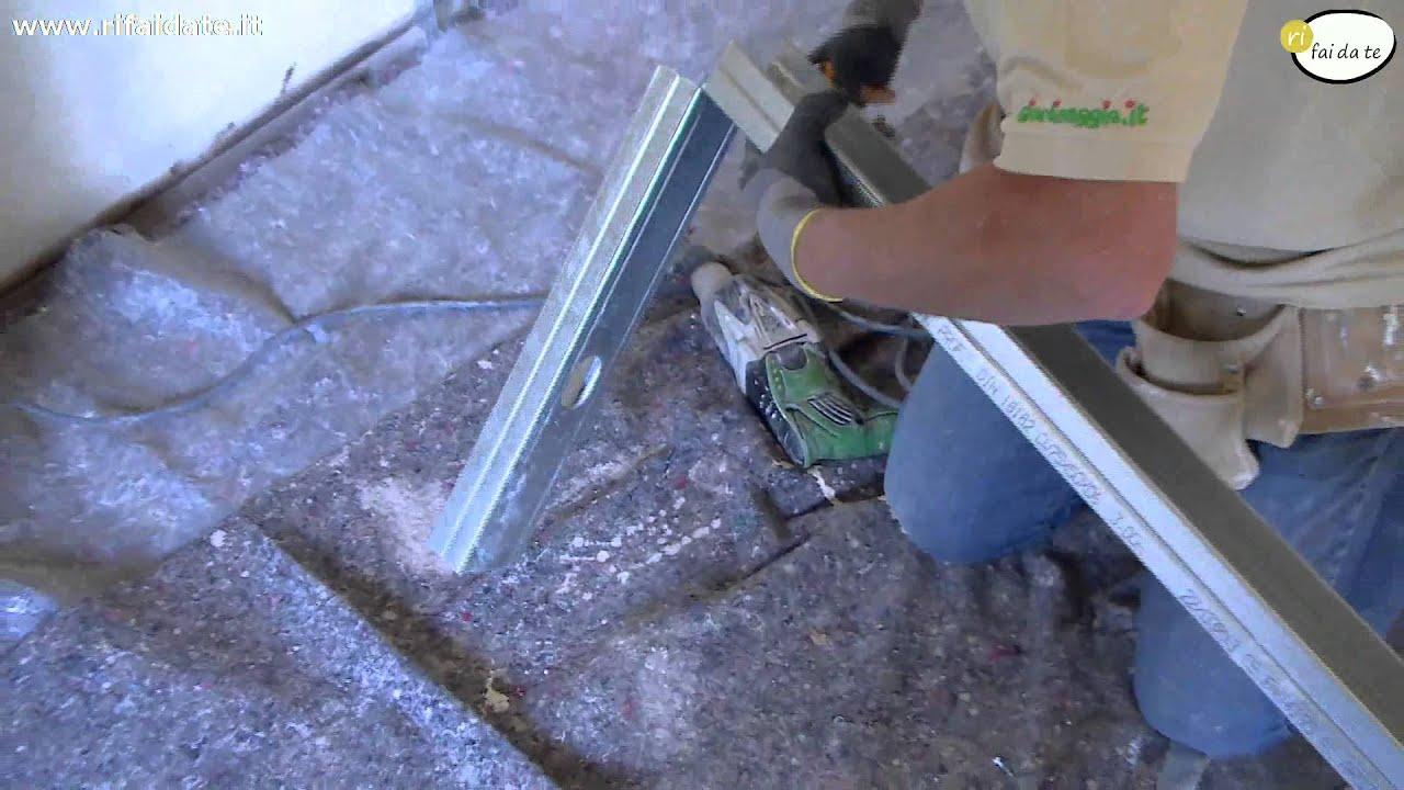 Come realizzare una libreria in cartongesso parte 1 youtube for Costruire porta tv