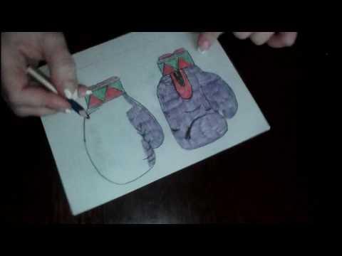 Как нарисовать боксерские перчатки поэтапно