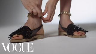 "Balenciaga Resort 2014 ""Phone Cord"" Sandal – From the Vogue Closet - Vogue"