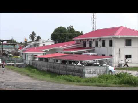 Guyana, Seawall, Koker at Leonora Cottage Hospital. (HD)