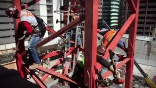 Video still for 215 W Lake Apartments-high rise crane assembly