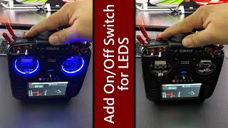 How-To Add a Lat¢hing Momentary On/Off Switch for your Radiomaster TX16s Gimbal LEDs
