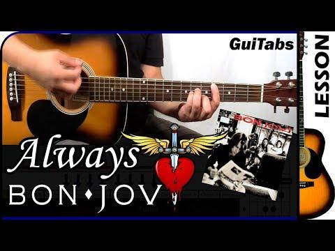 How to play Always 💖🎸 - Bon Jovi / Guitar Tutorial 🎸