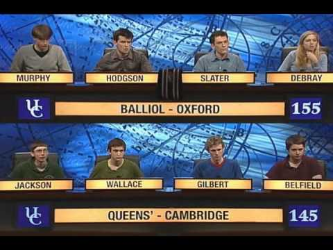 University Challenge 2010 Queens' College, Cambridge vs. Balliol College, Oxford Part 3
