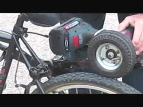 Electric Bicycle Cordless Drill Powered Youtube