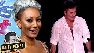 america s got talent s simon cowell vs mel b what you didn t see on the live show   daily denny