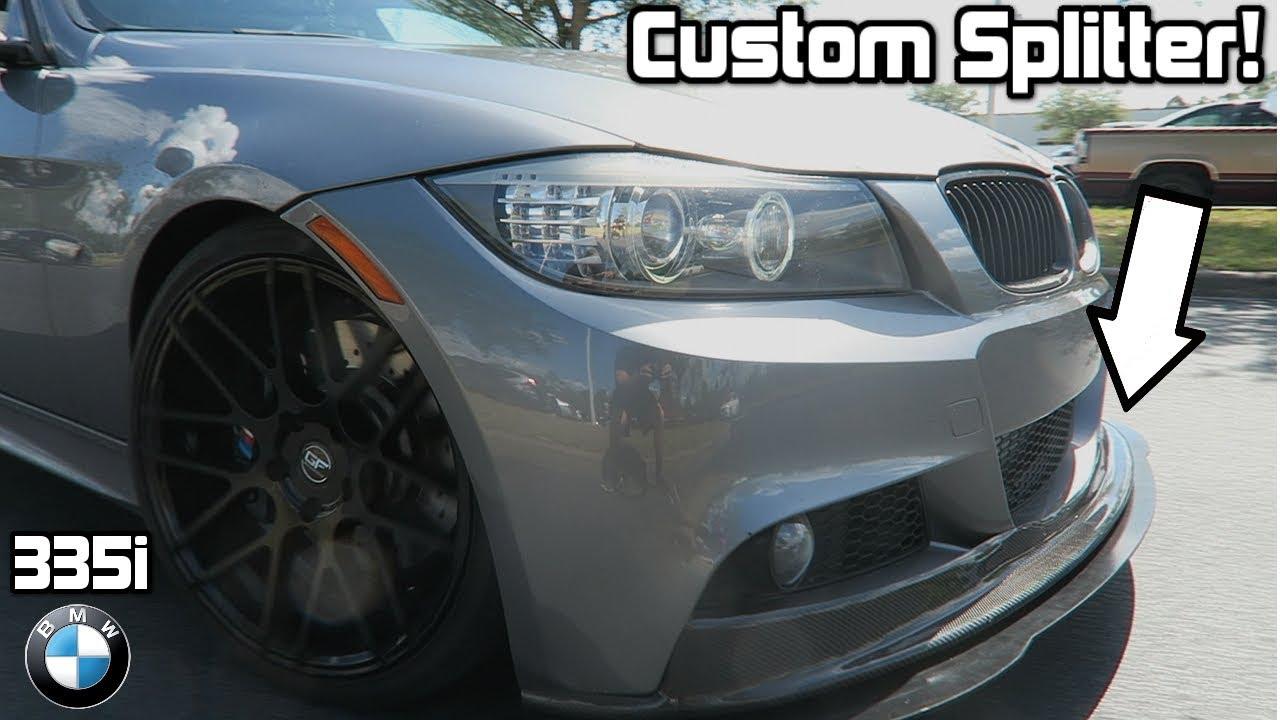 170534bd80e HOW TO MAKE AND INSTALL A CUSTOM SPLITTER   RW Carbon Fiber Lip on a BMW  335i
