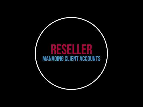 Managing customer accounts and your reseller account or radio subaccounts on your dedicated machine