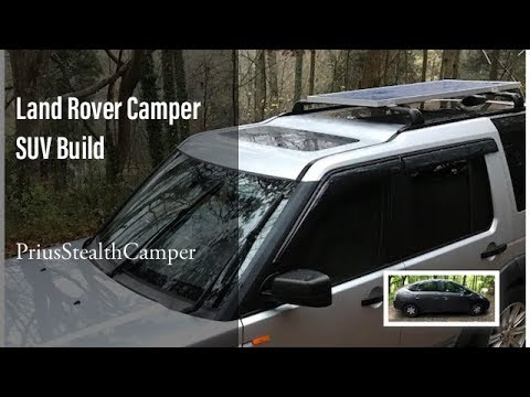 C1E25 Land Rover SUV Camper Build Tour. LR4 LR3 Solar SUV Camping VanLife Living in your SUV