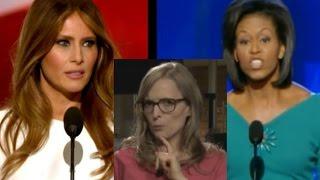 Upps! Hier klaut Melania Trump die Rede von Michelle Obama