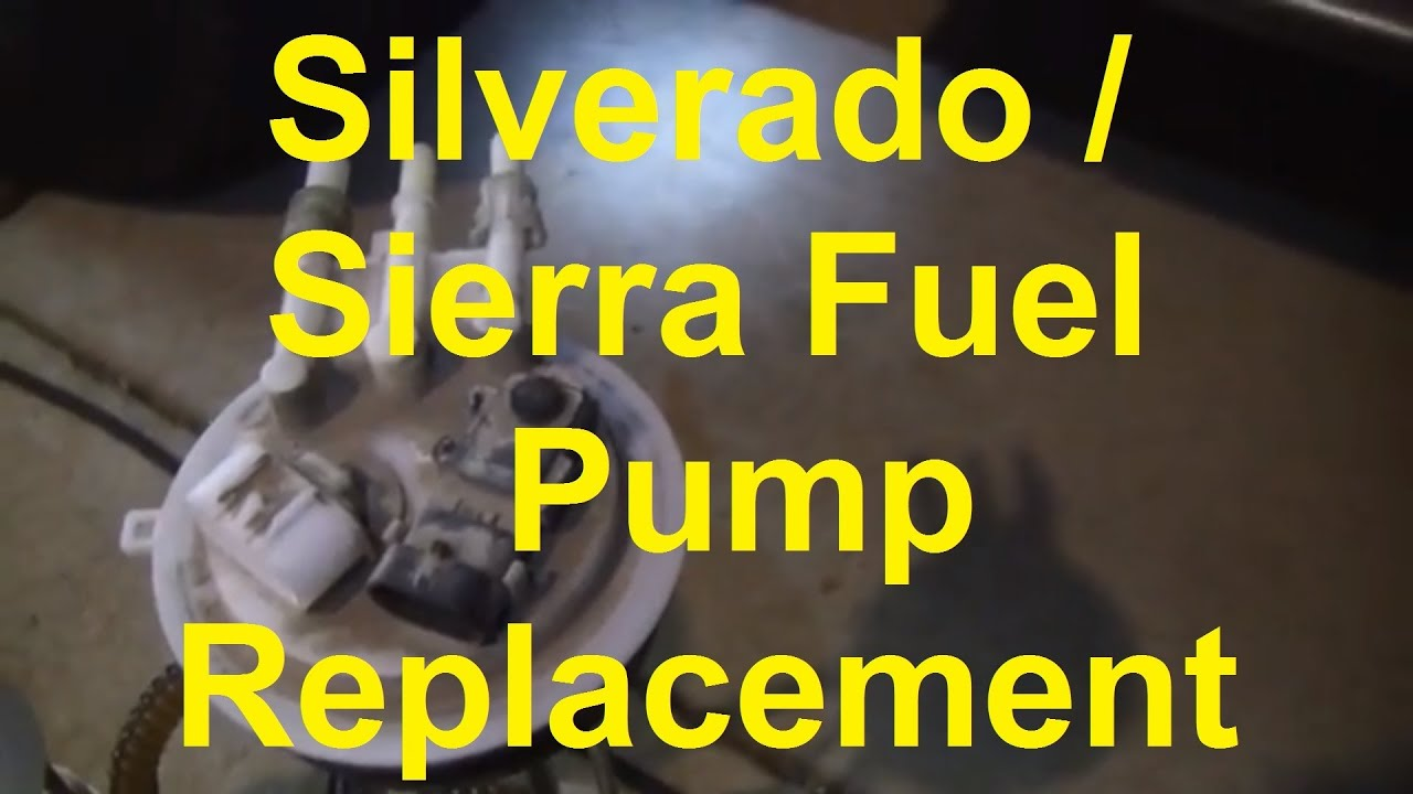 2000 chevy silverado 1500 fuel pump wiring diagram heart box with labels how to replace the in a or gmc sierra - youtube