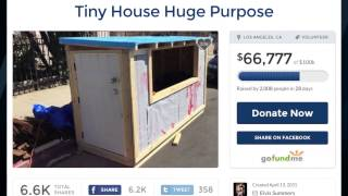 Man builds tiny homes on wheels for Los Angeles' homeless