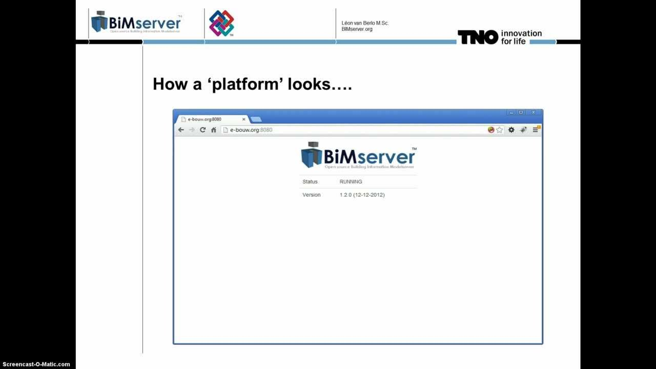 Introduction to the open source BIMserver org platform