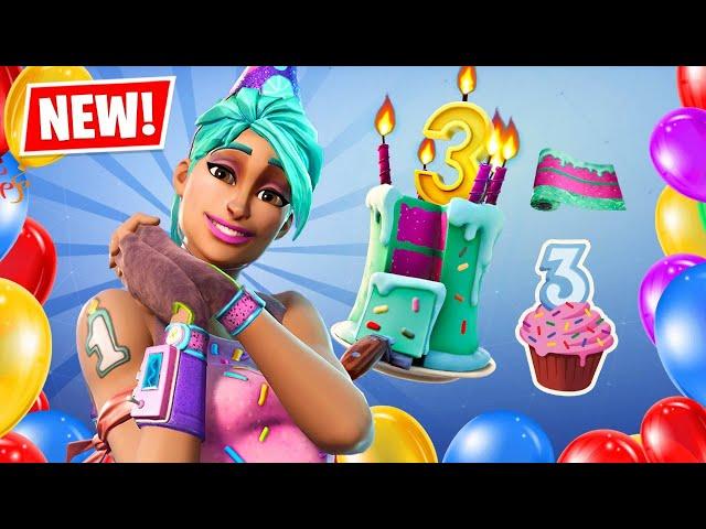 New FORTNITE 3RD BIRTHDAY Items!! (Fortnite Season 4)