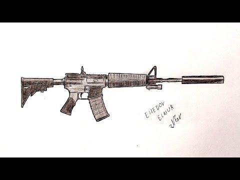 Как нарисовать Автомат М-4 А1