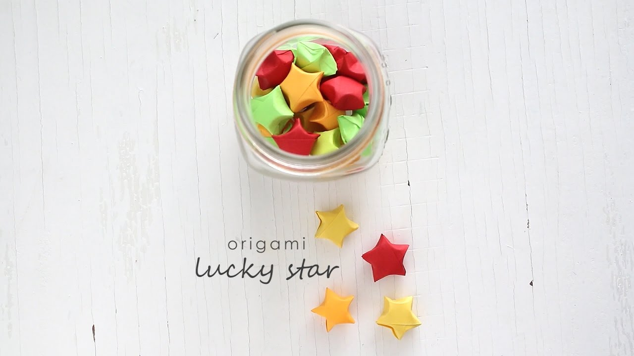 origami lucky star youtube