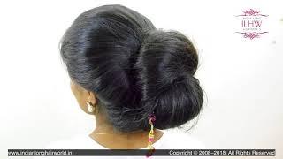 ILHW Rapunzel Priya 39 s High Bun Making Bun Drop Hair Flaunting With Medium Length Hair