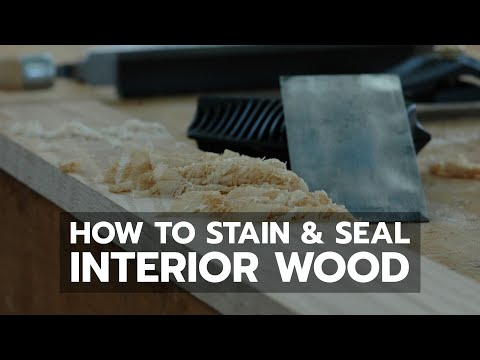How to Stain and Seal Interior Wood