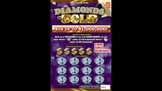 $5 - DIAMONDS & GOLD NEW - WIN! Lottery Bengal Scratch Off instant tickets  NEWER TICKET WIN!