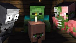 Monster School : ZOMBIE SCARY BIRTHDAY Challenge - Minecraft Animation