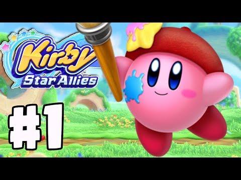 "World 1 ""Dream Land""   Kirby Star Allies Gameplay Walkthrough Part 1 (Nintendo Switch)"