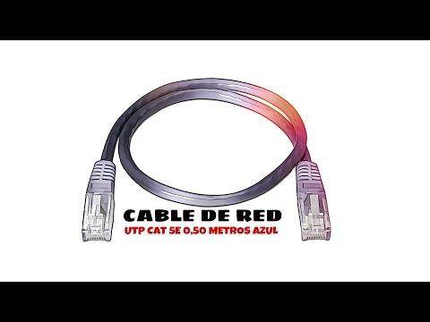 Video de Cable de red UTP CAT5E 0.50 M Azul