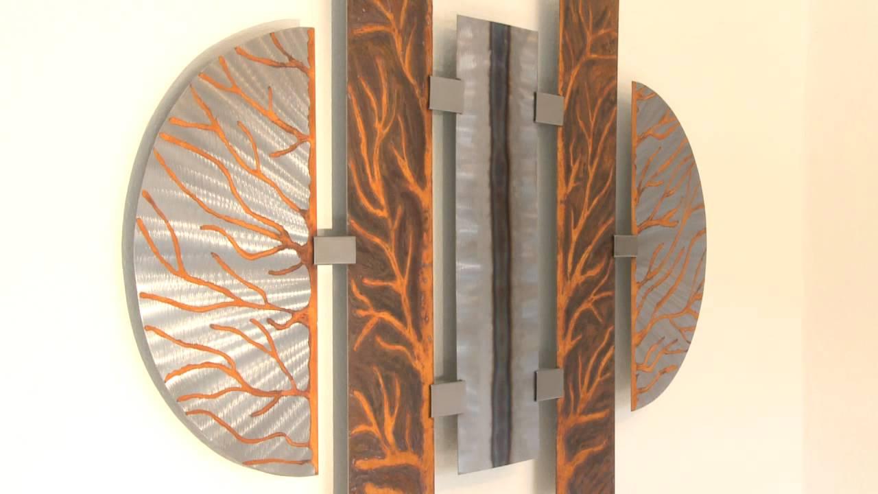 Abstrakte Kunst aus Metall  Moderne Wandbilder fr den Wohnraum  YouTube