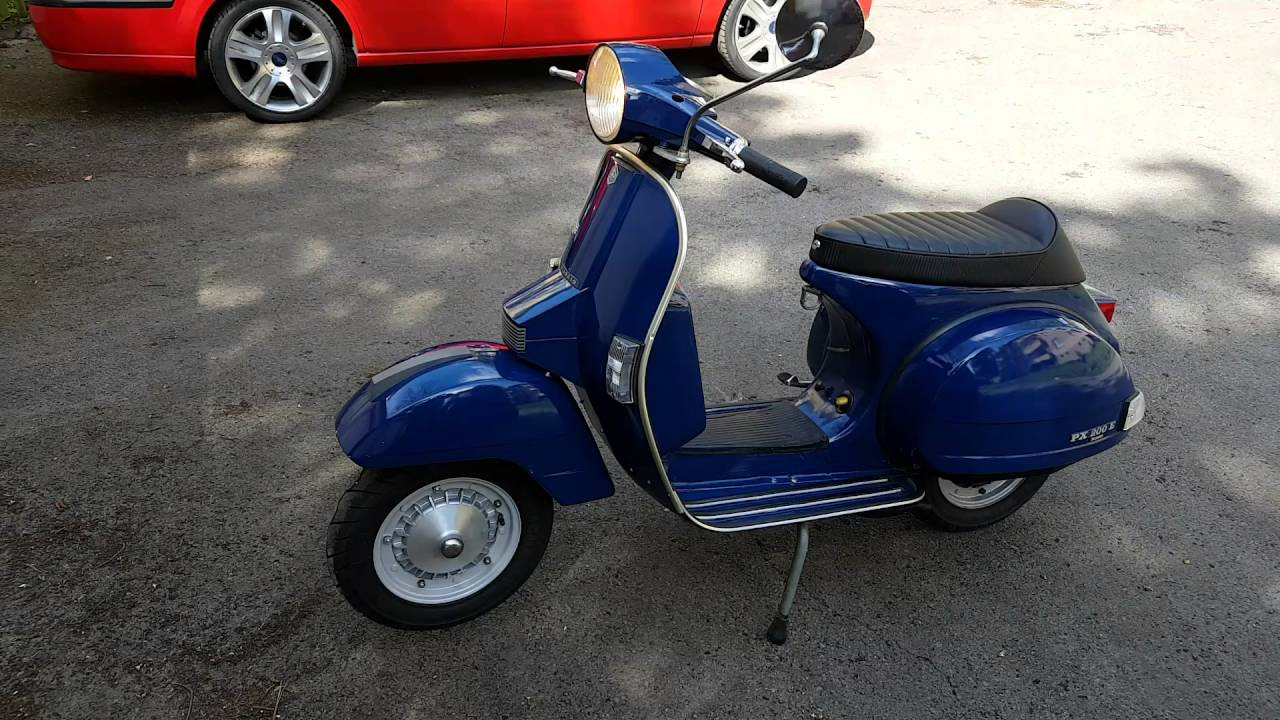 vespa px 200 lusso bj 1985 o lack scheibenbremse d mpfer neu youtube. Black Bedroom Furniture Sets. Home Design Ideas