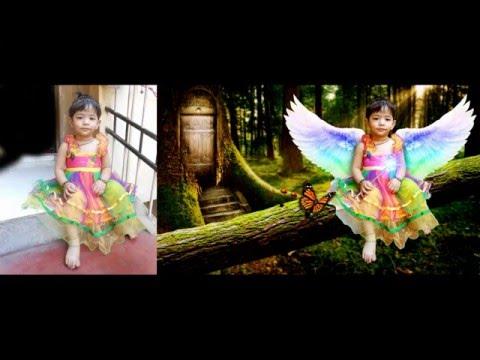 Photoshop Tutorial   Photo Editor   Angel Transformation In Photoshop