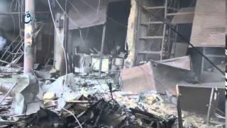 وكالة قاسيون آثار القصف على بلدة جسرين بريف دمشق 4-12-2015